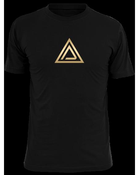 T-shirt CRS nera scritta verticale