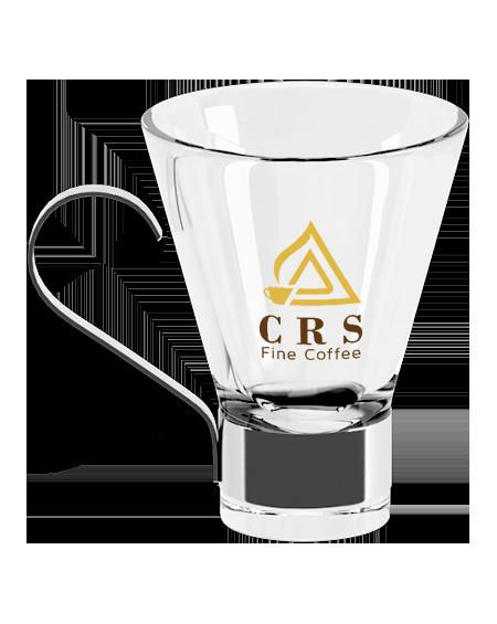 Tazza da caffè ginseng logo giallo